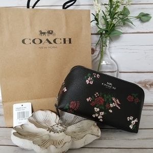 NWT | Coach Floral Cosmetic Canvas Travel Pouch